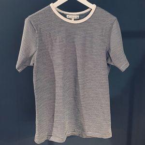Merz B. Schwanen Striped Army Shirt